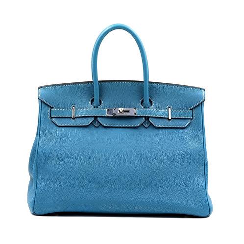 Hermès Birkin 35 Blue Jean Togo