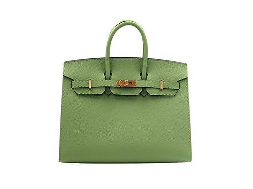 Hermès Birkin Sellier 25 Vert Criquet GHW