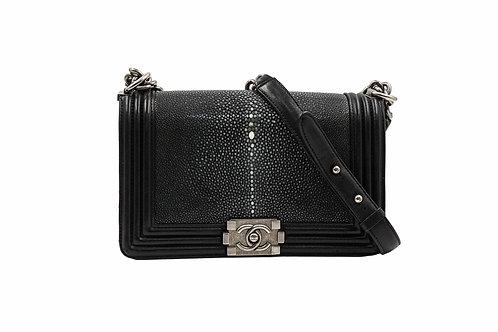 Chanel Black Stingray Boy Bag