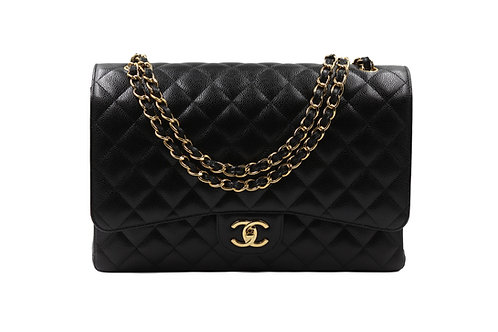 Chanel Maxi Flap Black Caviar GHW