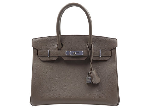 Hermès Birkin 30 Veau Togo Etain PHW