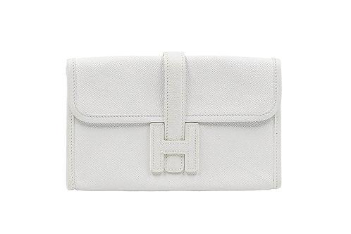 Hermès Jige Clutch Blanc Epsom