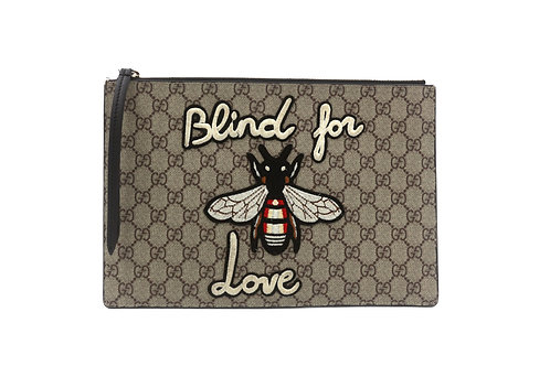 Gucci Blind For Love Canvas Pouch