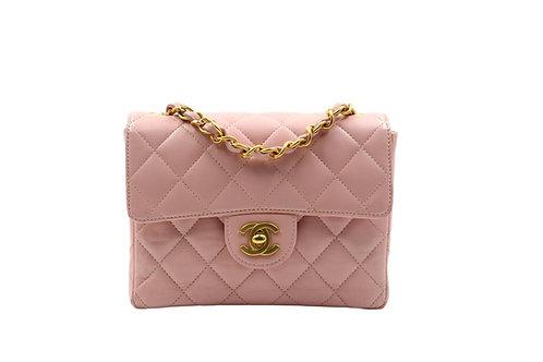 Chanel Lambskin Mini Flap Pink