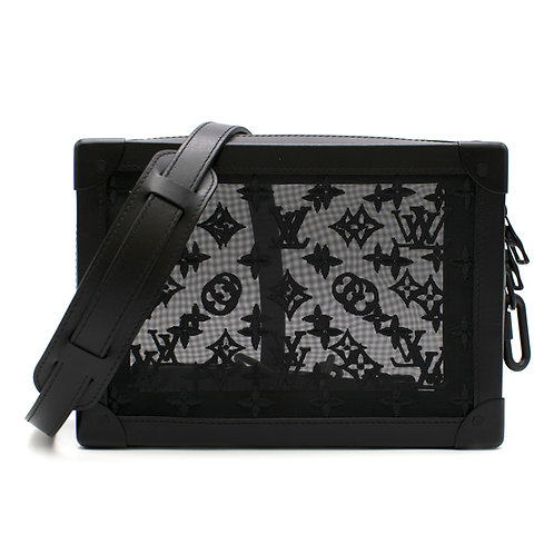 Louis Vuitton x Virgil Abloh Black Mesh Monogram Soft Trunk