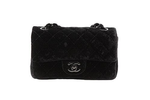 Chanel Black Velvet Mini Flap
