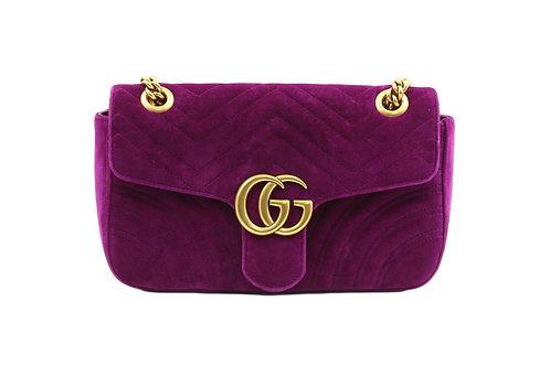 Gucci Marmont Velvet Purple