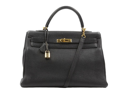 Hermès Kelly 35 Black Togo GHW