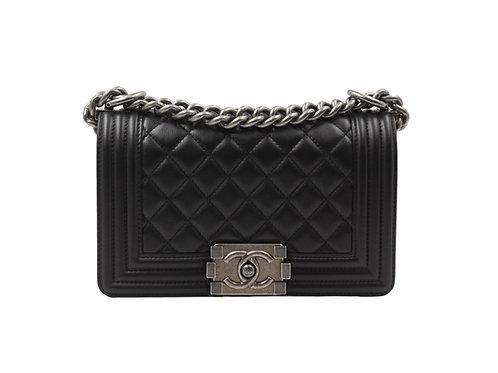 Chanel Small Black PHW Boy Bag