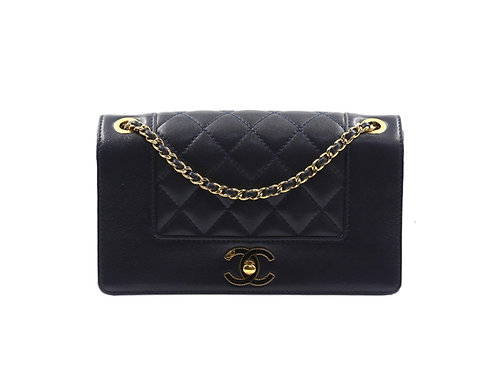 Chanel Timeless Diana Limited Edition Navy Bag
