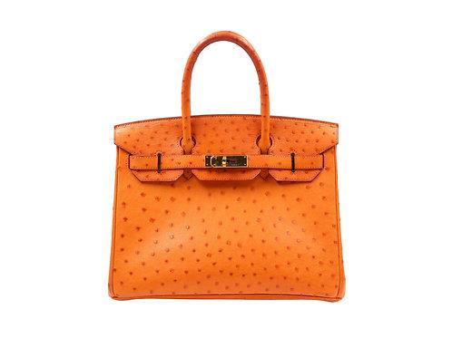 Hermès Birkin 30 Ostrich Tangerine GHW