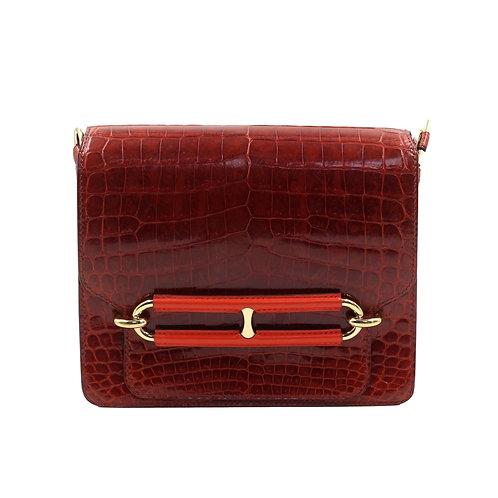Hermès Roulis 23 Rouge H Croc