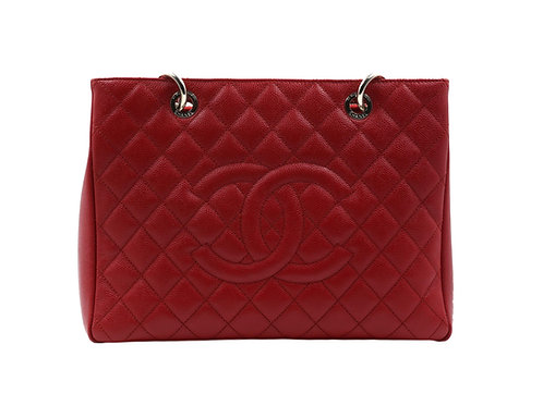 Chanel Grand Shopping Tote (GST) Red Caviar