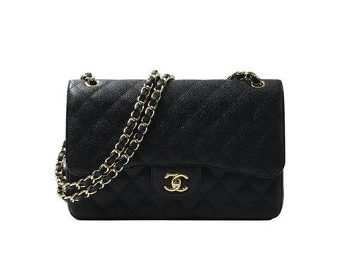Chanel Jumbo Black Caviar GHW