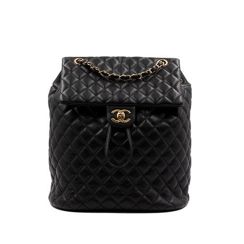 Chanel Lambskin QuiltedUrban Spirit Backpack Black