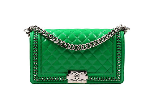 Chanel Green Patent Boy PHW