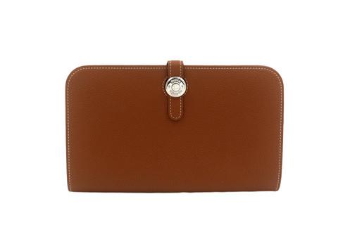 e2cd2a5f12b Hermès Dogon Wallet Gold PHW