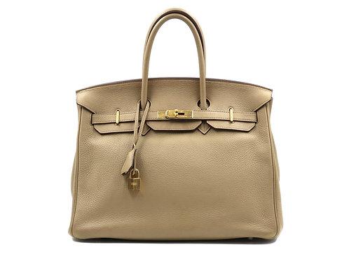 Hermes Cardamome 35 Clemence Leather Birkin