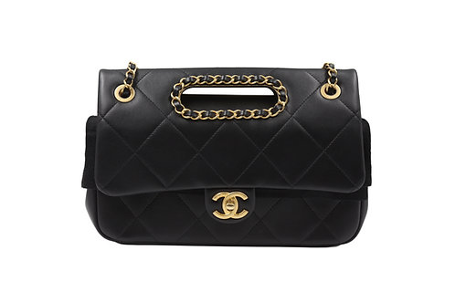 Chanel Black Lambskin Bag GHW