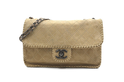 Chanel Suede Flap Bag