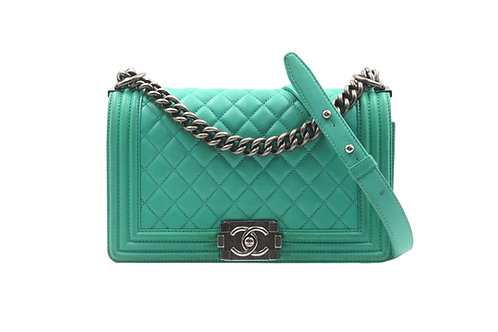 Chanel Green Boy Bag Medium