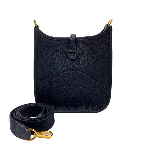 Hermès Taurillon Clemence Amazone Evelyne TPM Black GHW