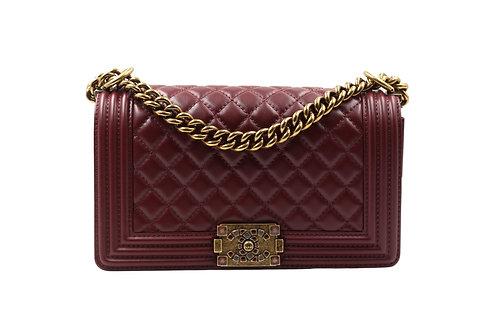 Chanel Burgundy Medium Boy Bag
