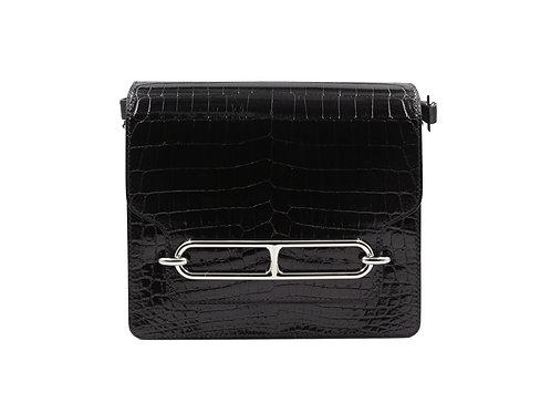 Hermès Roulis Croc Black PHW