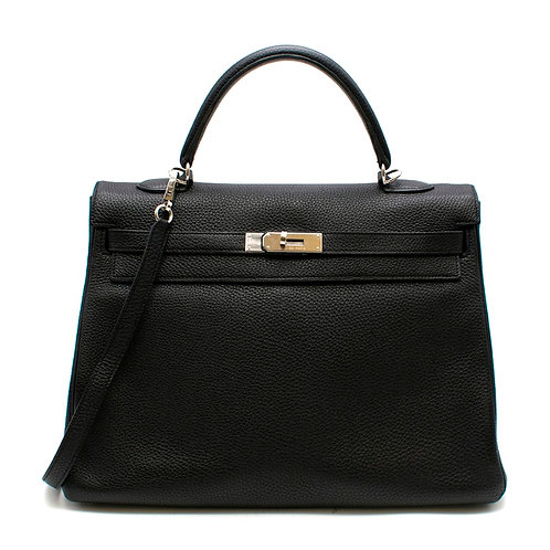Hermès Kelly 35 Black Togo PHW
