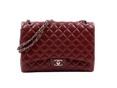 Chanel Burgundy Maxi Classic Flap