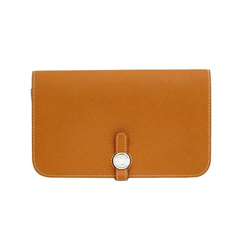 Hermès Dogon Wallet Gold PHW