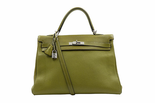 Hermès Kelly 32 Togo Vert Anis