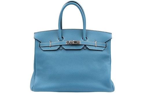 Hermès Birkin 35 Togo Bleu Jean
