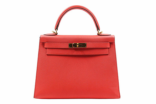 Hermès Kelly Sellier 28 Epsom Rose Jaipur