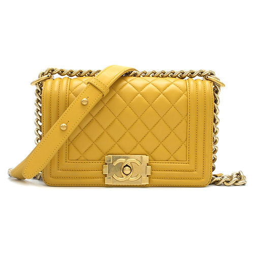 Chanel Yellow Boy Bag