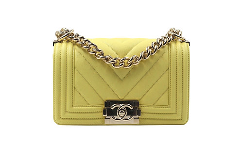 Chanel Small Yellow Boy Bag