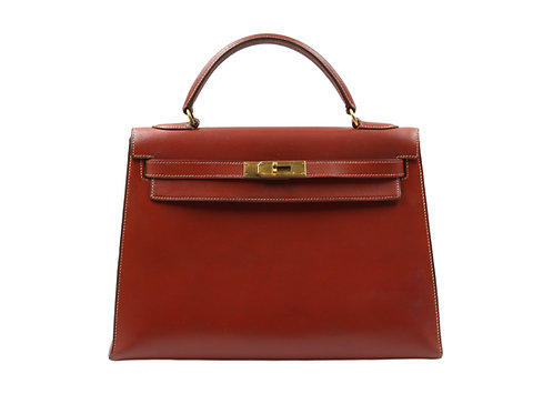 Hermès Kelly 32 Etrusque Veau Box GHW