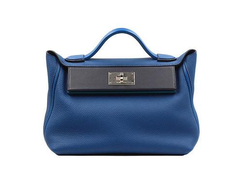 Hermès 24/24 29cm Vert Bosphore, Indigo