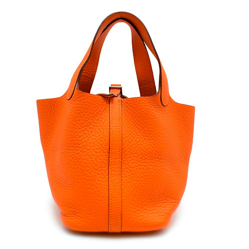 Hermès Picotin Lock Bag Orange 18