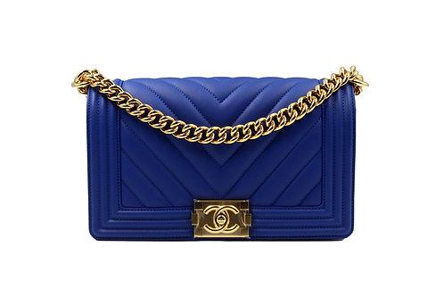 Chanel Boy Blue Chevron