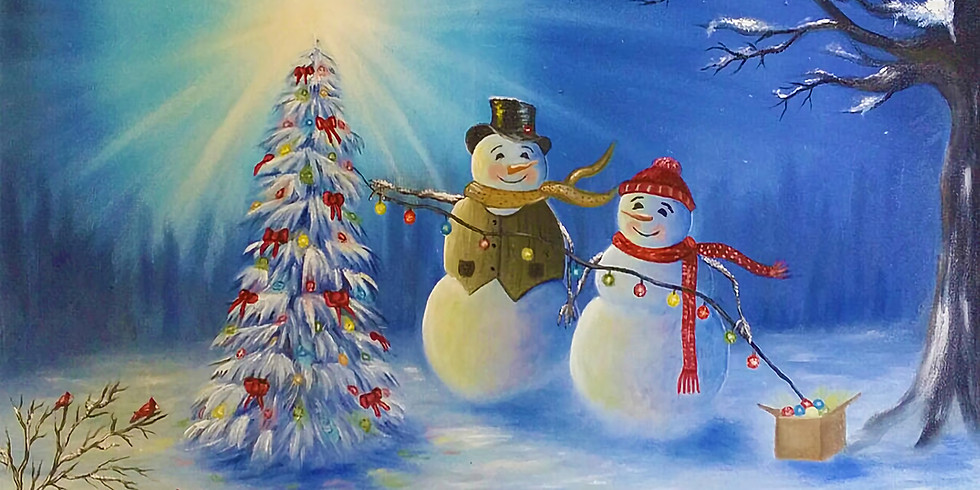 Paint and Sip Xmas Party Gosforth All Saints Church Hall