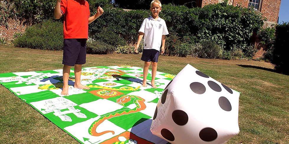 Giant Snakes and Ladders Jenga 24r Hire 9m Square. Help the NHS