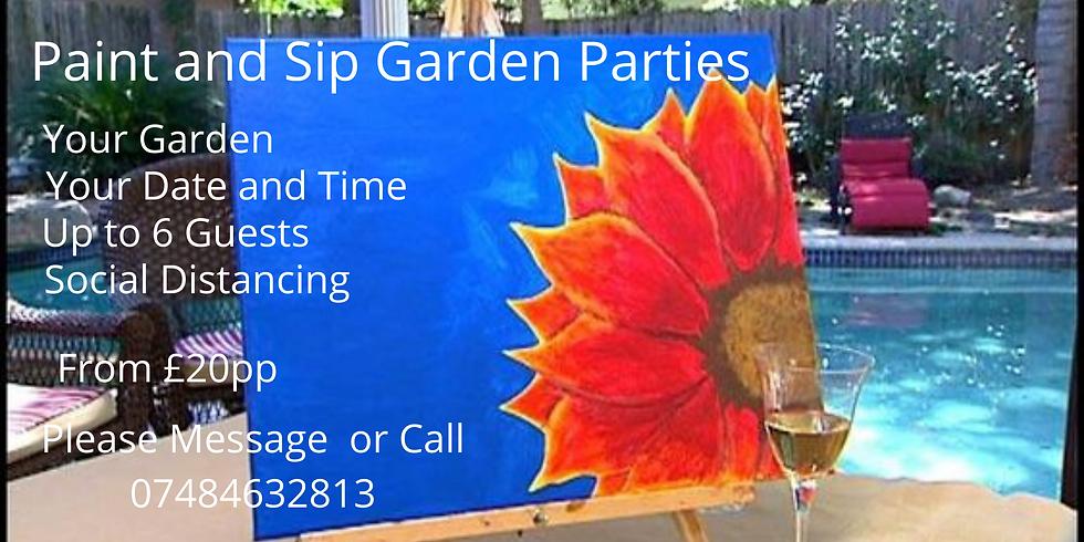 Paint and Sip Garden Parties