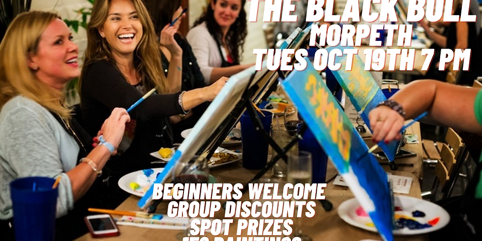 Paint and Sip Party The Black Bull Morpeth