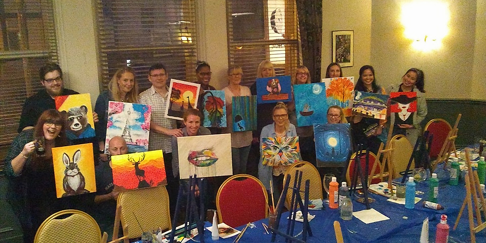 Lucy Saint  Paint and Sip Party Millstone Gosforth