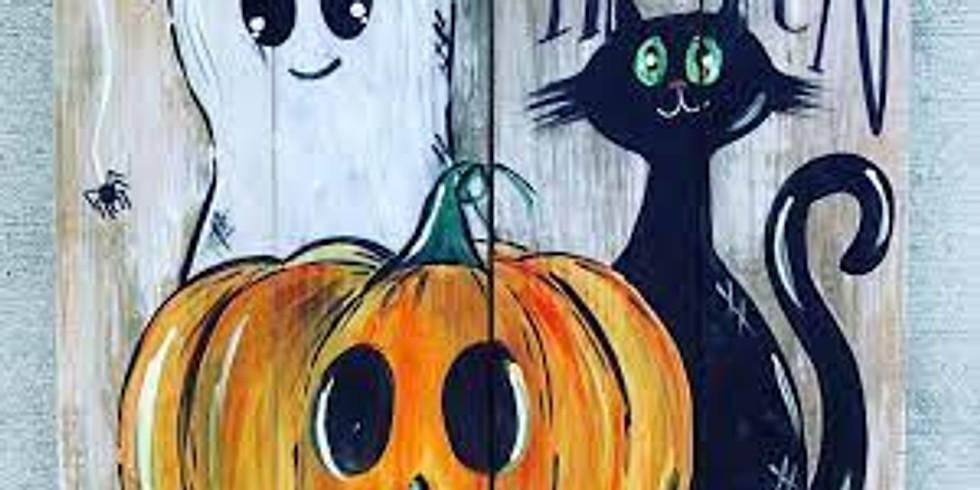 Paint and Sip Halloween Party Ben Lomond Jarrow