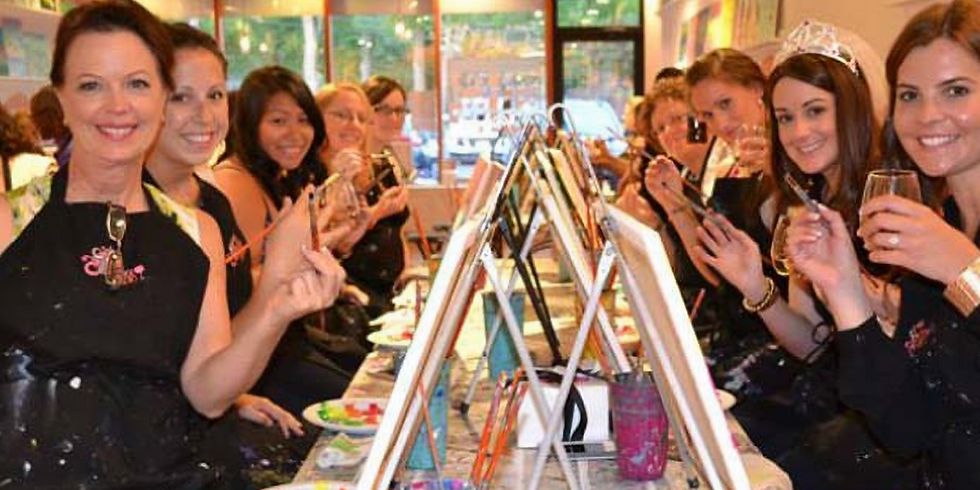 3 for 2 Tickets Paint and Sip Party Millstone Gosforth
