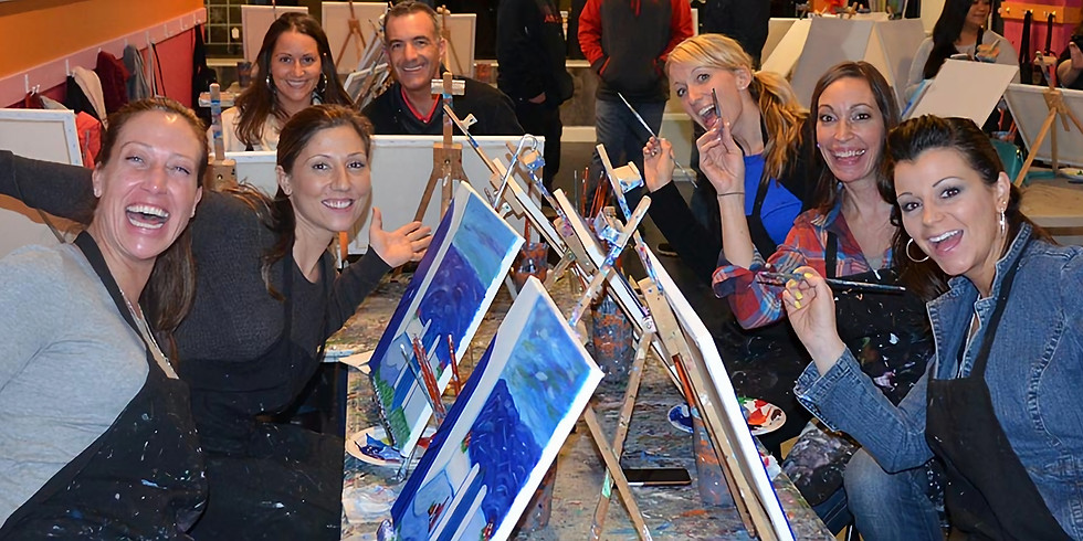 3 for 2 Tickets Linskill Centre North Shields Paint and Sip Party (1)
