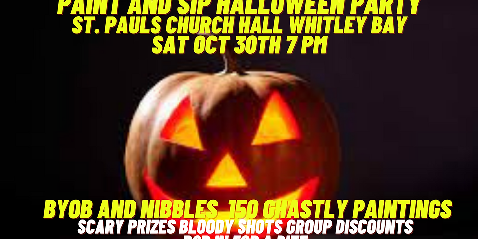 Paint and Sip Halloween Party Whitley Bay