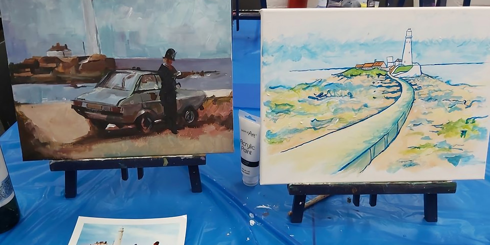 3  for 2 Tickets Paint and Sip Party Whitley Bay Masonic Hall